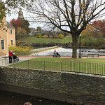 Slater Mill and the waterfall.