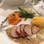 Pork Tenderloin with Seet pototo and turnip mash