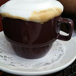 Fresh-made Cappuccino - look at that tasty froth =)