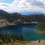Hiking to Jade Pass. This is Miller Lake.