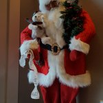 Santa in the lobby of the hotel.