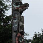 The Raven Stealing the Sun Totem Pole is located near the entrance to Creek Street.