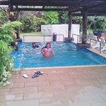 My daughter enjoying the kids' pool