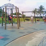 Just steps away from the hotel is this public playground -one of the attractions for us