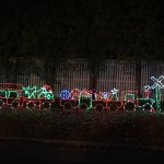 Lighted train display.