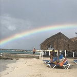 beach after a tiny rain shower