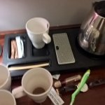 Great coffee station.  Love anything that hides electrical cords!