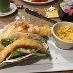 Fish tacos and Mac n cheese.