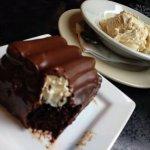 Bumpy cake with cinnamon icecream.