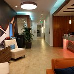 Very artfully done lobby-colors work well together.