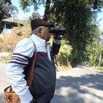 Looking at the Bhutan border from the view spot at Jhalong.