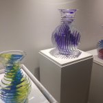 Examples from the exhibition of Sidney Hutter's art glass