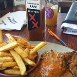 South African spicey chicken and chips