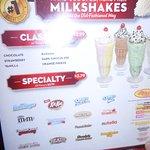 Many types of Milkshakes