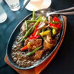 Sizzling beef with black pepper