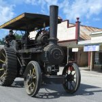 Steam traction engine being driven down main street (3rd Saturday of each month)