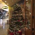 Entrance into the restaurant was decorated beautifully with Christmas decorations