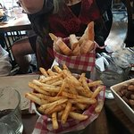 Even the fries were and hot bread were yummo