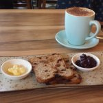 Fruit toast and coffee