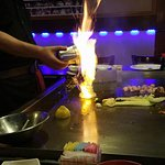 "Lighting onions to make the ""choo-choo"" - my 5 y/o was impressed..."
