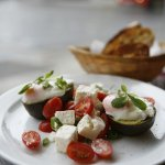 Baked Avocado with Chia and Pumpkin Seeds Bread
