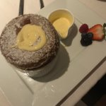Chocolate souffle from Meritage with creme anglaise - to DIE for!!