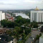 view nostalgic Kuching waterfront panorama from Pullman room!