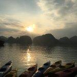 Kayaking in a beautiful bay!