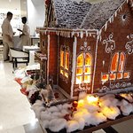 Gingerbread House at the Entrance of Shamiana Restaurant