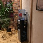 Water station with hot/cold water at living area just outside of rooms (3rd floor)