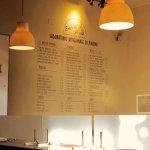 menu sul muro particolare