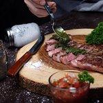 steak comes with chimichurri