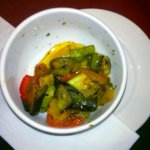 Roasted style vegetables. We;ve already taken a large portion.