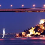 Bosphorus Bridge in night time