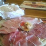Platter of cold cuts with home made bread