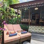 Terrace and Private Sunbed  Villa Klaten