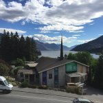 A view of lake Wakatipu from our hotel room