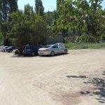 Parkplatz vor dem Strand