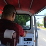 This is the tuk tuk - a cross between a motorbike and a taxi or something like that.