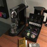 Nespresso machine in L-Suite, nice