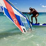 After my lesson - windsurfing!