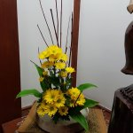 Decoration :chrysanthemum always goes well with crabs