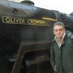 Me and 'Oliver Cromwell' at Victoria Station