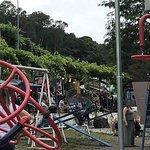 Praça no evento FoodTruck Marcolina promovido pelo Grupo de Jovem de Otávio Rocha