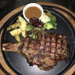 VIEW OF BIG MEAT AT CITRONELLA'S CAFE LOCATED IN SUGAR BEACH GOLF AND SPA RESORT, DECEMBER 2017.