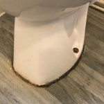 H&S Concerns - Toilet not secured to floor and very dirty