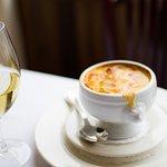 Crème de potiron gratinée
