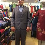 Grey suit is item that must have.