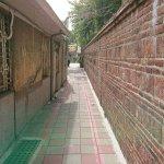 南側の壁沿い