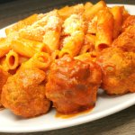 (italian food 02) - Beef meatballs with tomato sauce and pasta